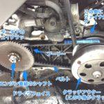スーパーディオAF27のドライブベルト交換と超カンタン駆動系の仕組み